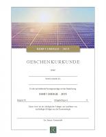 Schenkungsurkunde Ranft Energie 2019