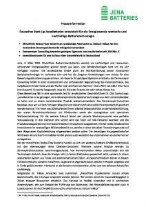 thumbnail of Pressemeldung JenaBatteries & Dennemeyer